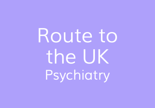 Psychiatry - Route to the UK | IMG Connect